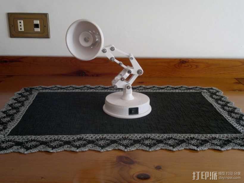 迷你可折叠小台灯 3D模型  图1