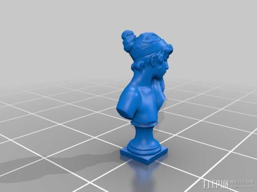 Sappho半身像雕塑模型 3D模型  图3
