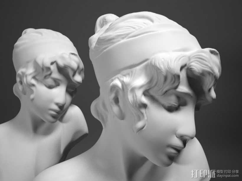 Sappho半身像雕塑模型 3D模型  图1