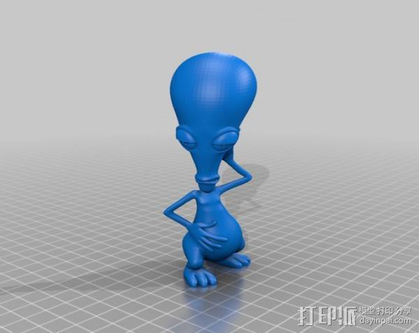外星人 模型 3D模型  图2
