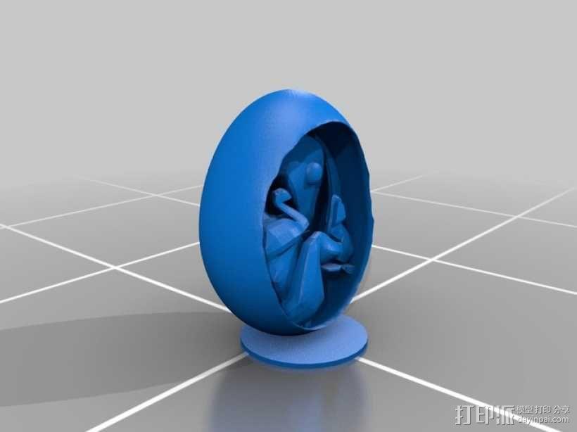 恐龙蛋模型 3D模型  图1