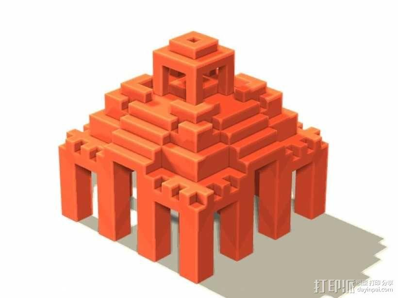 寺庙 模型 3D模型  图1