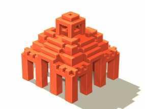 寺庙 模型 3D模型
