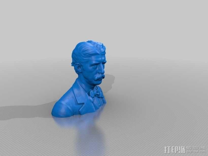 Hanibal Hamlin Kimball博士 半身像模型 3D模型  图1