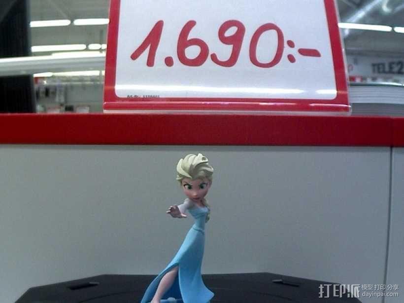 Elsa公主 模型 3D模型  图2