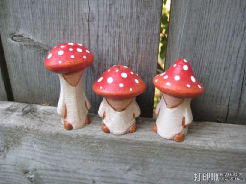 蘑菇小人 模型 3D模型  图2
