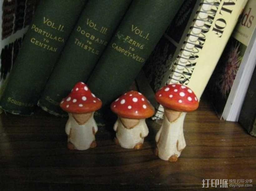 蘑菇小人 模型 3D模型  图3