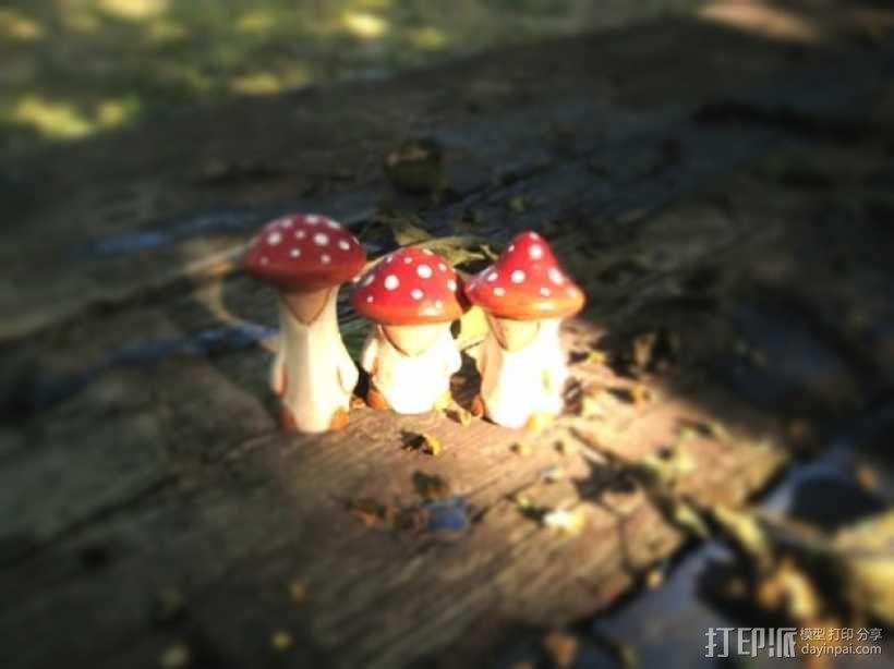 蘑菇小人 模型 3D模型  图1