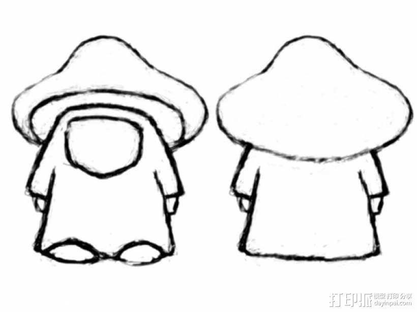 蘑菇小人 模型 3D模型  图4