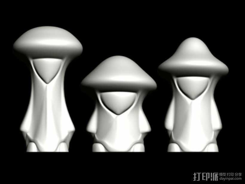 蘑菇小人 模型 3D模型  图5