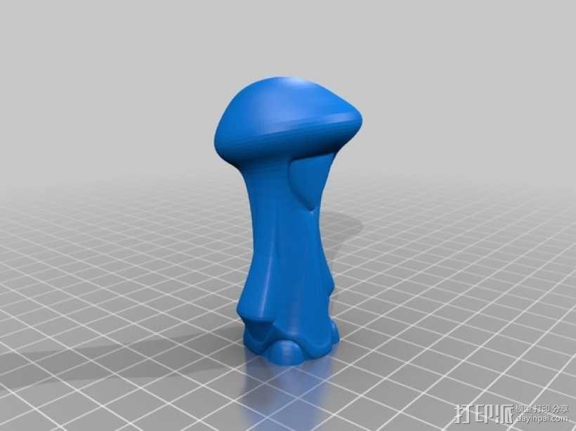 蘑菇小人 模型 3D模型  图9