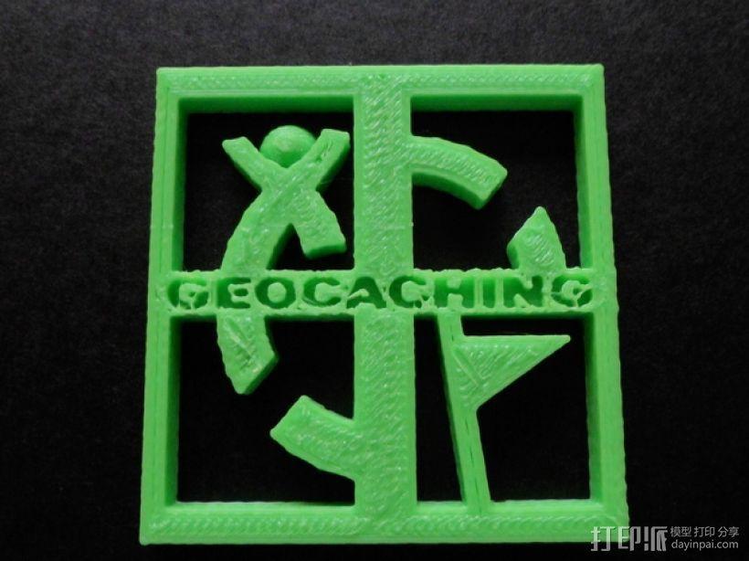 Geocaching地理藏宝 标志 3D模型  图1