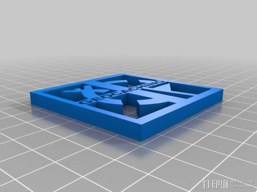 Geocaching地理藏宝 标志 3D模型  图2