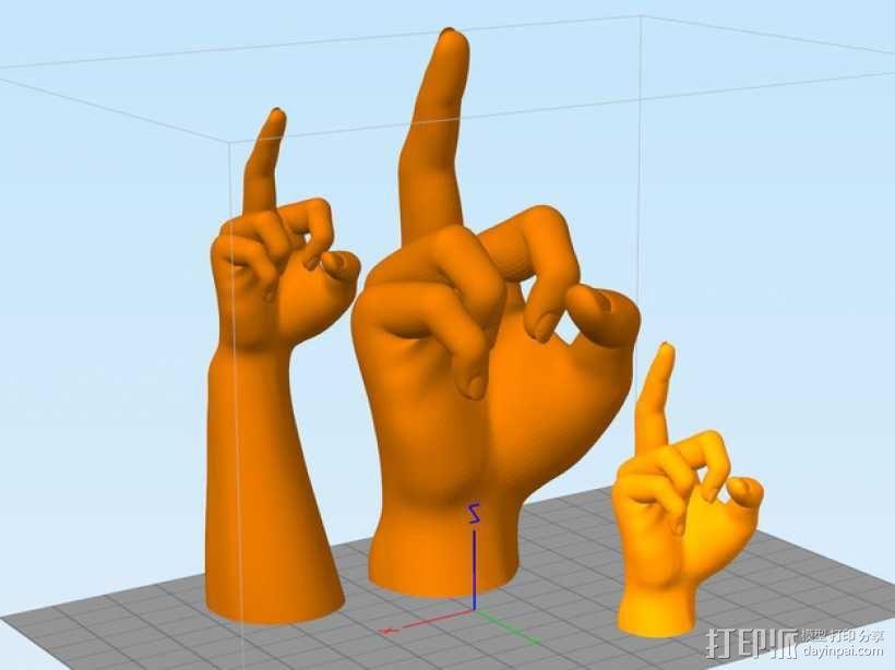 手模型 戒指架 3D模型  图1