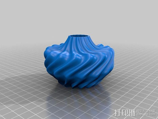 参数化波纹花瓶  3D模型  图2