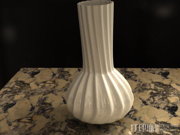 参数化波纹花瓶  3D模型  图3