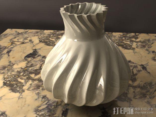 参数化波纹花瓶  3D模型  图5
