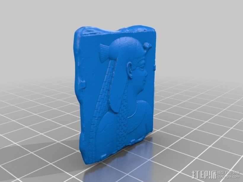 埃及公主浮雕模型 3D模型  图2