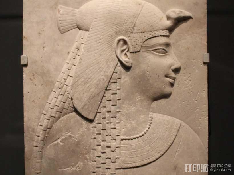 埃及公主浮雕模型 3D模型  图1