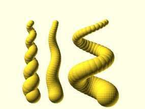 螺旋形的角 3D模型