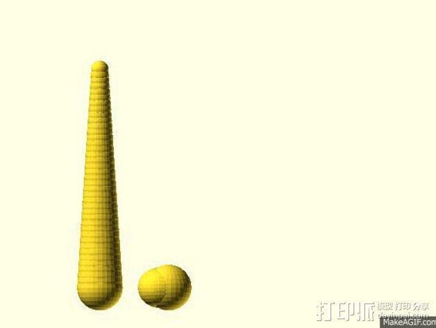 螺旋形的角 3D模型  图4