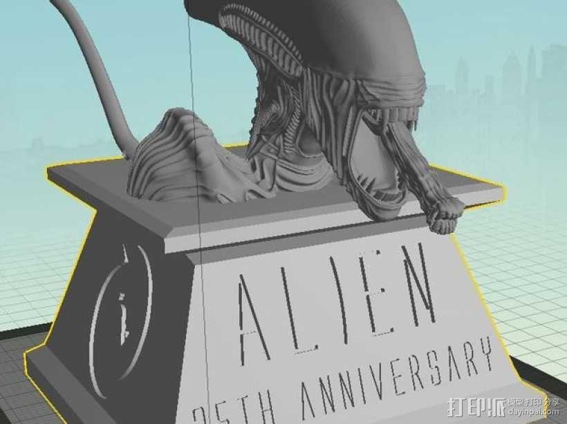 外星人 半身像模型 3D模型  图1