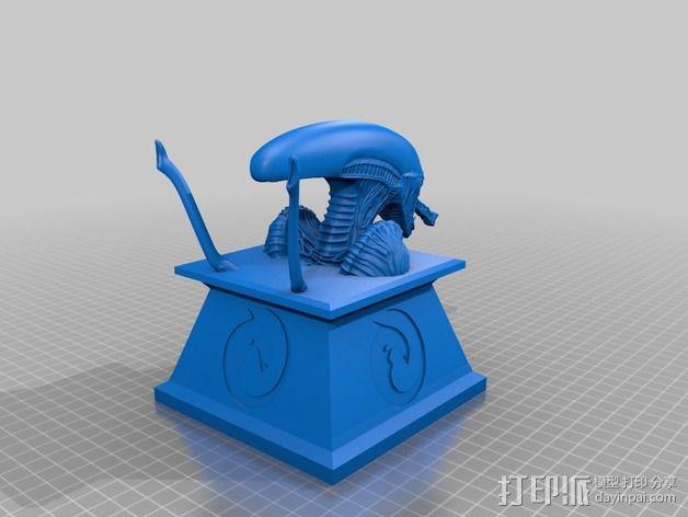 外星人 半身像模型 3D模型  图3