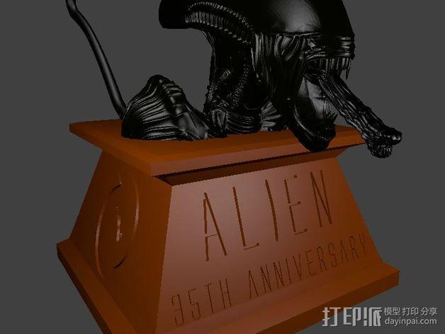 外星人 半身像模型 3D模型  图2