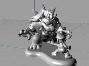 马里奥对战小怪兽 3D模型