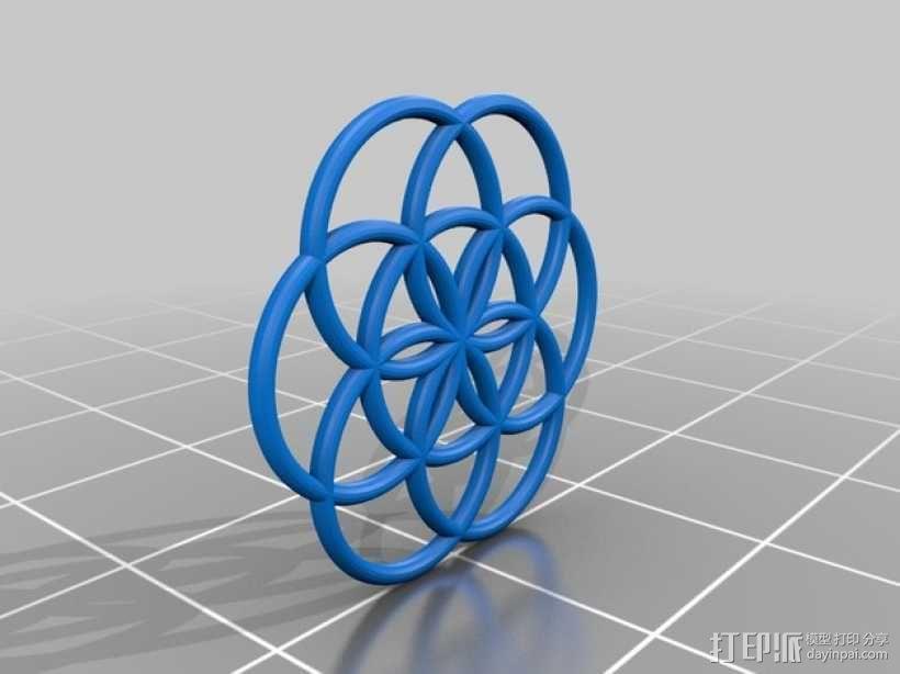 生命之花 3D模型  图2