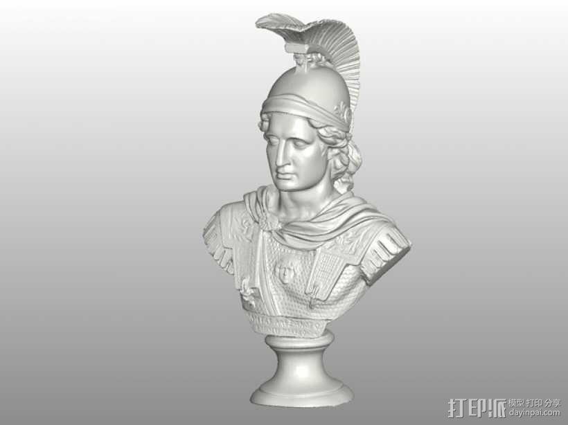 亚历山大大帝半身像模型 3D模型  图1