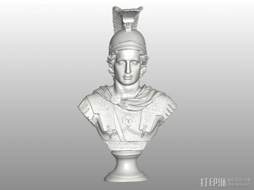 亚历山大大帝半身像模型 3D模型  图4