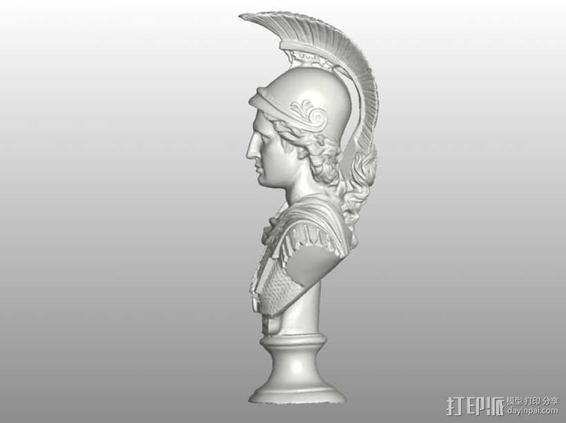 亚历山大大帝半身像模型 3D模型  图3