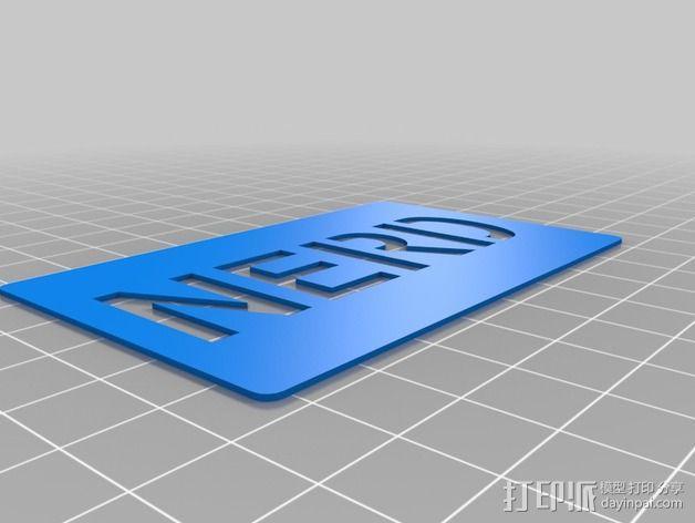 书呆子标签卡片 3D模型  图6
