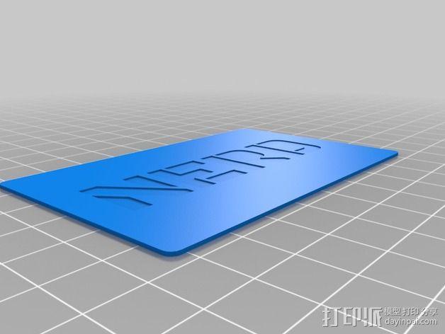 书呆子标签卡片 3D模型  图7