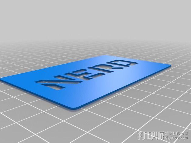 书呆子标签卡片 3D模型  图8