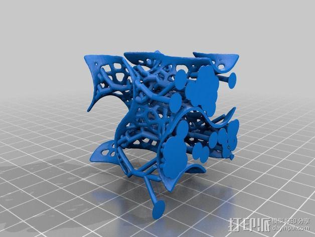泰森多边形 螺旋体 3D模型  图2