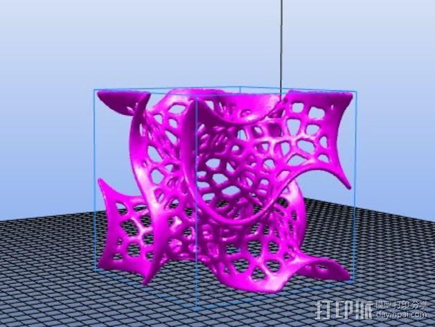 泰森多边形 螺旋体 3D模型  图3