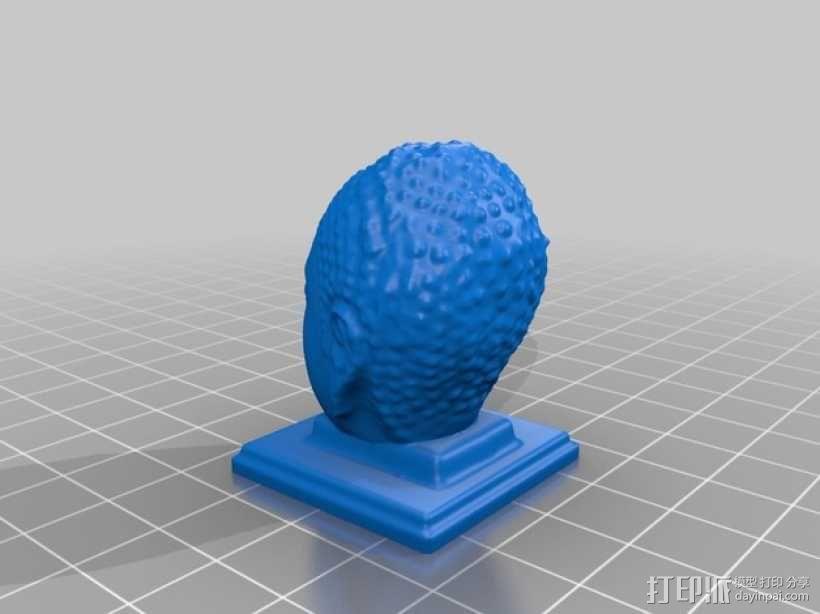 如来佛 头像模型 3D模型  图2