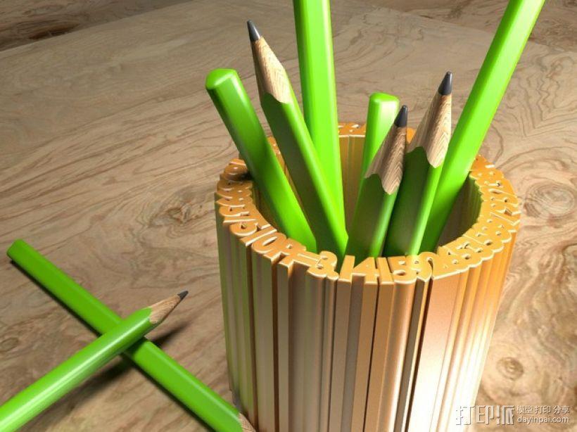 Pi 笔筒 3D模型  图1