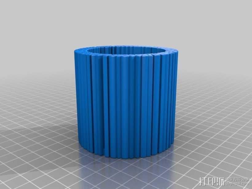 Pi 笔筒 3D模型  图5