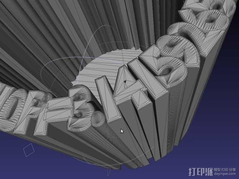 Pi 笔筒 3D模型  图4