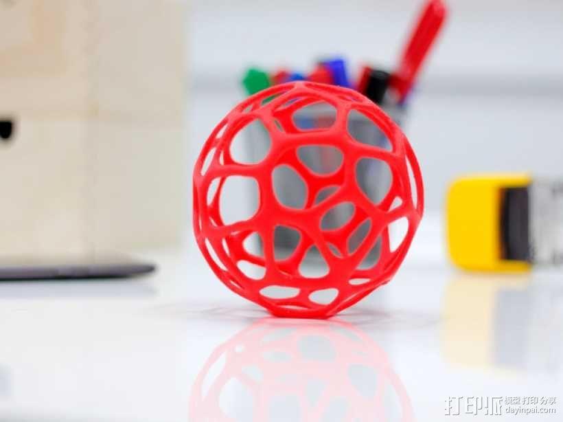 泰森多边形镂空球体 3D模型  图1