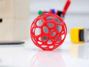 泰森多边形镂空球体 3D模型
