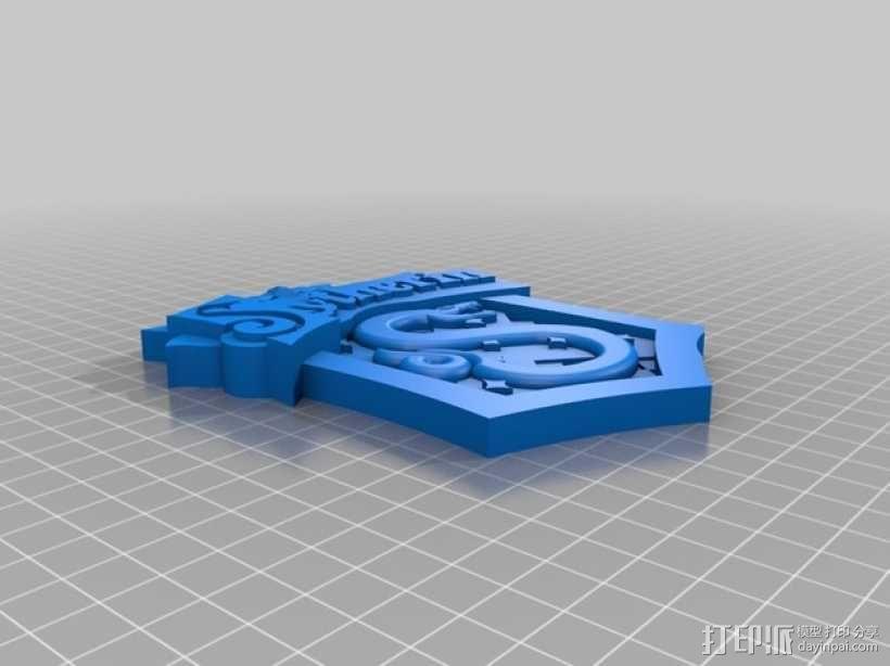 Slytherin斯莱特林学校标志 3D模型  图1