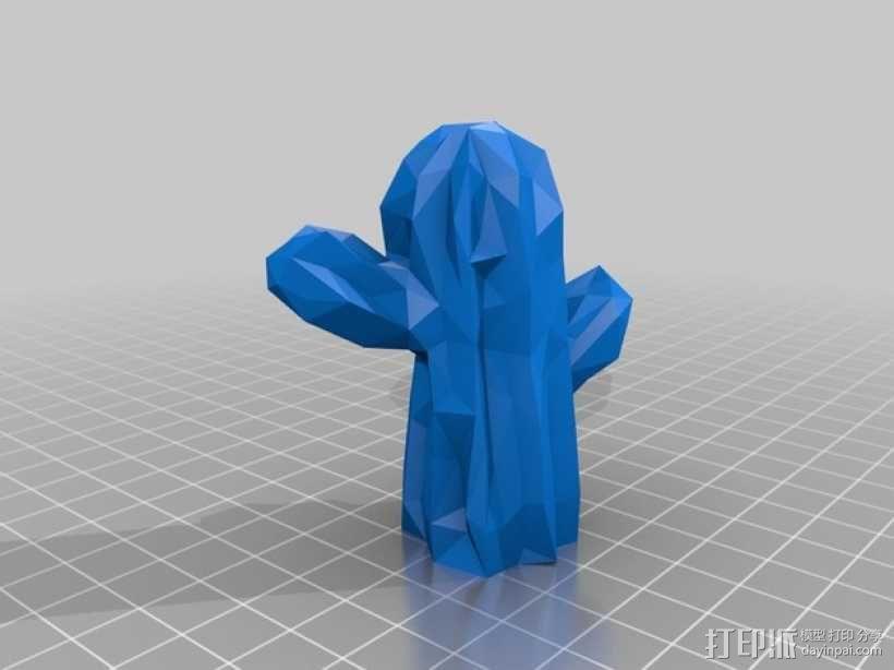 低面数墨西哥仙人掌模型 3D模型  图2