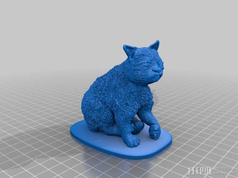 暴躁的猫 模型 3D模型  图3