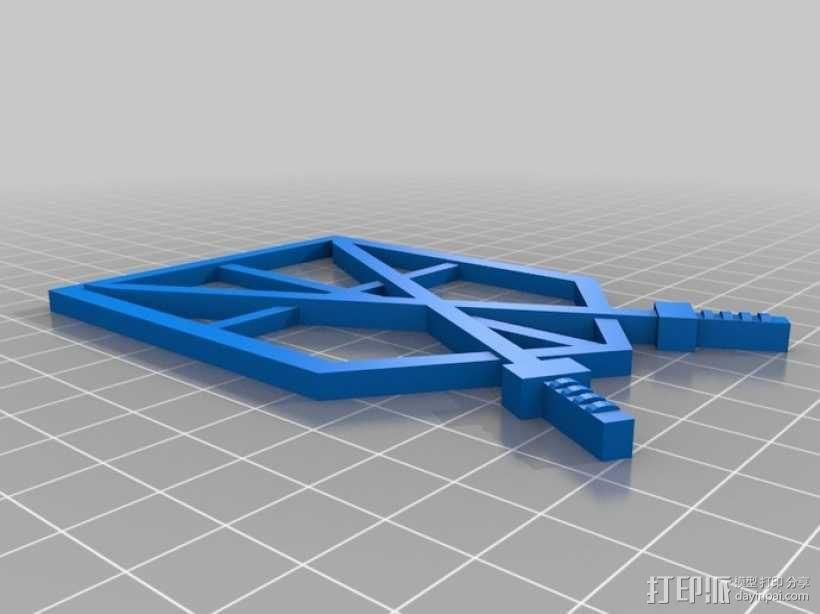 进击的巨人 标志 3D模型  图1