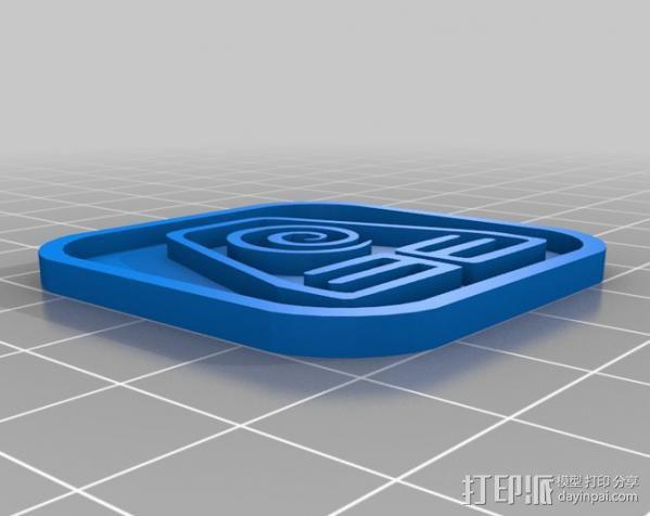 水 地球 火 空气 标志 3D模型  图3
