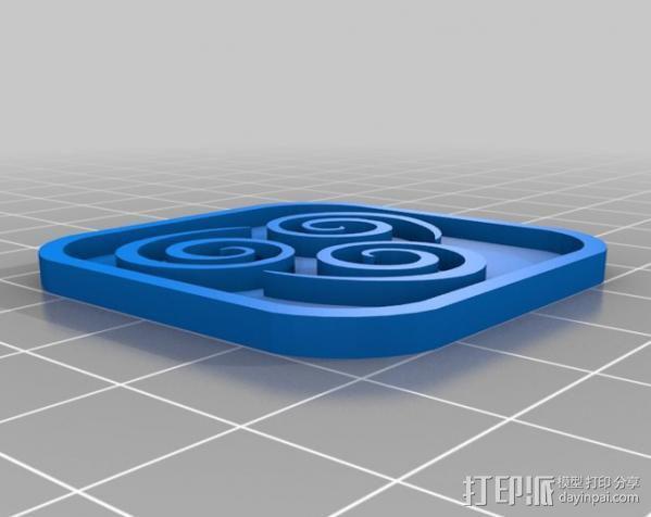水 地球 火 空气 标志 3D模型  图5